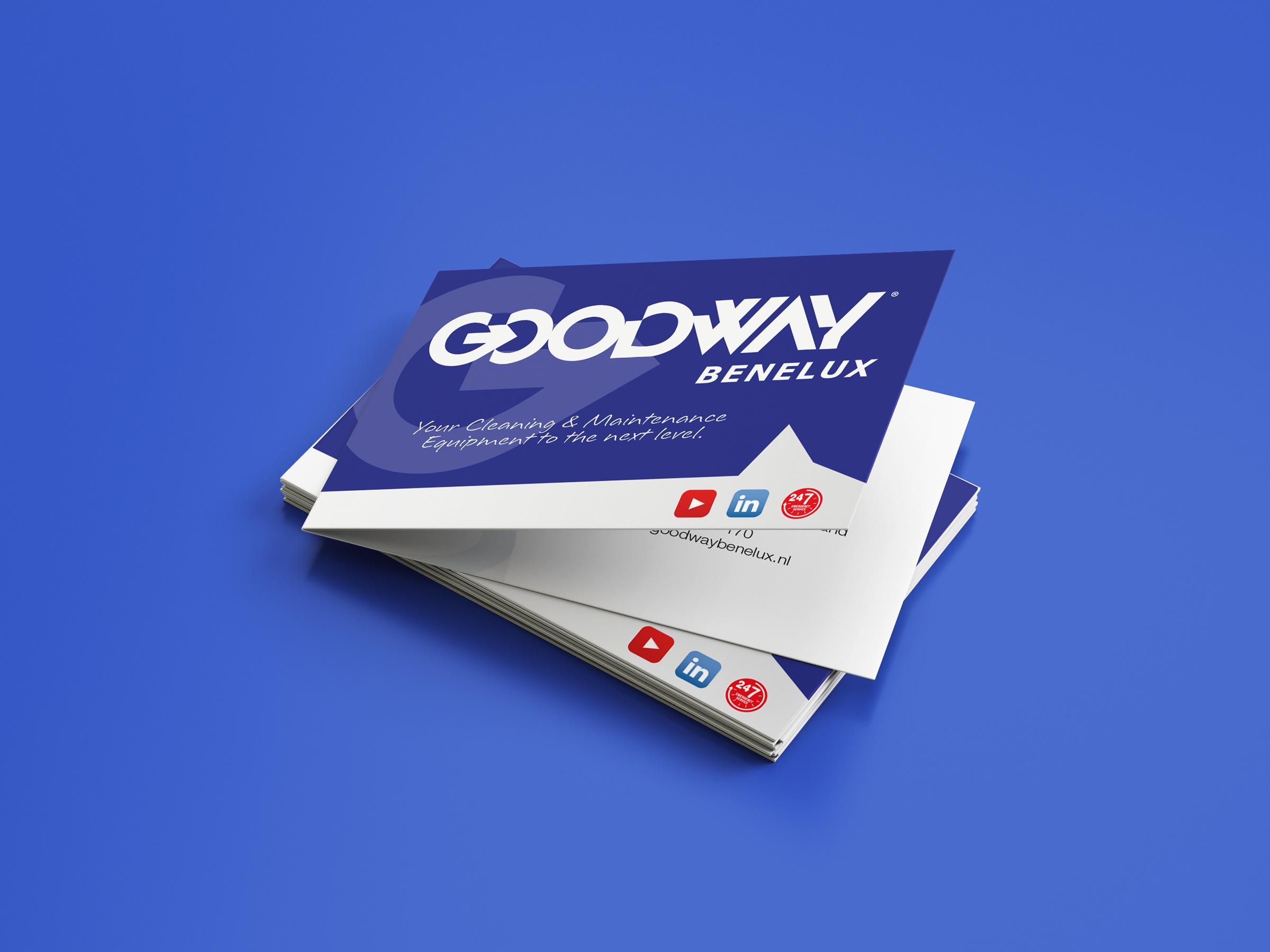 Goodway Benelux visitekaartjes